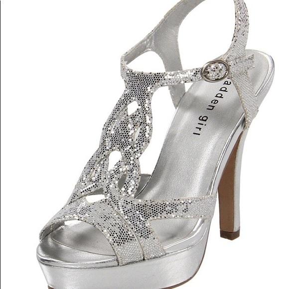 bb619c0b96a6 Madden Girl Shoes - Madden Girl Silver Formal Heels